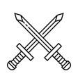 crossed sword icon symbol vector image vector image