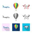 design plane and transport logo set of vector image vector image