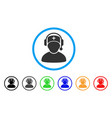 doctor call center rounded icon vector image vector image