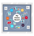 dreams vision board infographic set vector image vector image