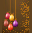 easter greeting card template holiday banner vector image vector image