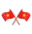 Flag of Vietnam icon cartoon style vector image vector image