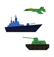 flat army military fatherland defender set vector image vector image