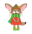 Fox Fennec character on a white background vector image vector image