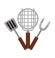 grill barbecue fork spatula vector image vector image