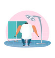 gynecologist room with woman patient vector image