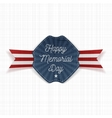 Happy Memorial Day festive Emblem with Text vector image