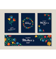happy mothers day set flower labels and cards vector image