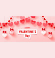 happy valentine s dayromantic composition with vector image vector image