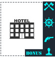 hotel icon flat vector image vector image