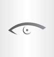 human eye stylized icon vector image