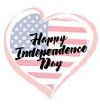 independence day love usa emblem vector image