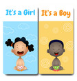 its a boy and its a girl cards hello baby card vector image vector image
