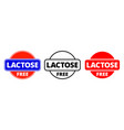 lactose free icon food package stamp lactose free vector image