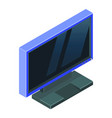 light blue modern gaming monitor isometric vector image vector image