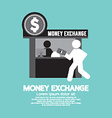 Money Exchange Service Counter Symbol vector image
