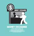 Money Exchange Service Counter Symbol vector image vector image