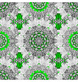oriental ornament pattern on green and white vector image vector image