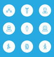people outline icons set collection of worker vector image vector image
