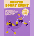 poster winter sport event concept vector image vector image