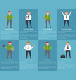 posters with businessman vector image vector image