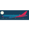 Red eye flight vector image