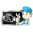 repair of car engines vector image vector image