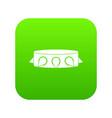 rock collar icon digital green vector image
