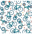 seamless bicycle color pattern with borders vector image vector image