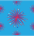 seamless pattern fireworks night sky happy vector image vector image