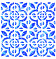 seamless pattern with dutch ornaments in delft vector image vector image