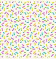 seamless pattern with many decorative sprinkles vector image vector image