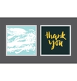 Set creative postcards vector image vector image