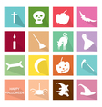 Set of 16 Happy Halloween Icons vector image vector image