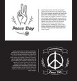 set of posters for international peace day vector image vector image