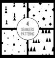 set with 4 simple minimalistic seamless pattern vector image vector image