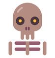 skeleton flat vector image