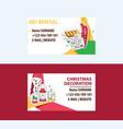 ski rental and christmas decorations business vector image