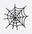 spider web doodle color icon drawing sketch hand vector image