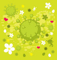 spring corona virus abstract background - i vector image vector image