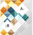 square elements with infographics and options vector image vector image