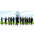 team of businesspeople vector image