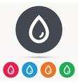 Water drop icon Natural aqua sign vector image vector image