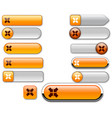 web buttons orange vector image vector image