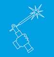 welding torch icon outline vector image vector image