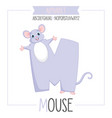 alphabet letter m and mouse vector image