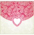 ornate valentine ornamental pattern vector image