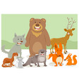 wild animal characters group vector image