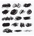 Dark blots Scribble stains vector image