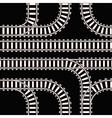 Seamless background of railway tracks vector image
